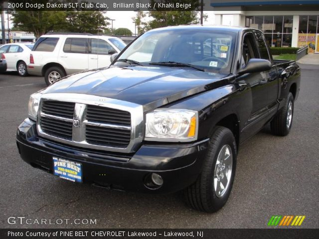 brilliant black 2006 dodge dakota slt club cab khaki beige interior vehicle. Black Bedroom Furniture Sets. Home Design Ideas