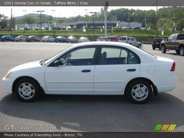 taffeta white 2001 honda civic lx sedan gray interior vehicle archive 37282488. Black Bedroom Furniture Sets. Home Design Ideas