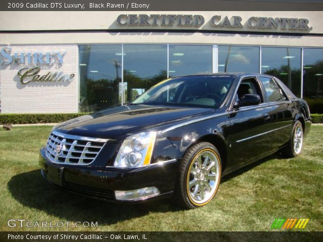 black raven 2009 cadillac dts luxury ebony interior. Black Bedroom Furniture Sets. Home Design Ideas