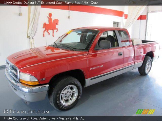 flame red 1999 dodge dakota slt extended cab mist gray. Black Bedroom Furniture Sets. Home Design Ideas