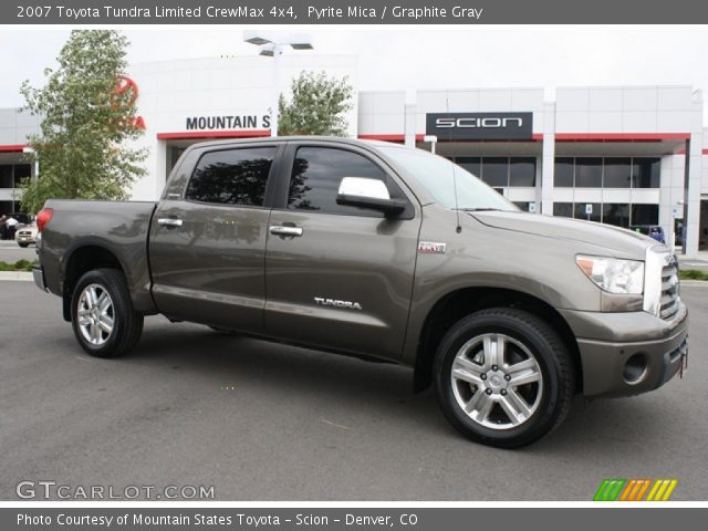 pyrite mica 2007 toyota tundra limited crewmax 4x4 graphite gray interior. Black Bedroom Furniture Sets. Home Design Ideas