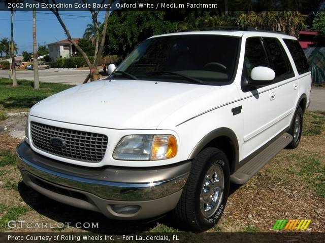 2002 Ford Expedition Eddie Bauer in Oxford White. Click to see large