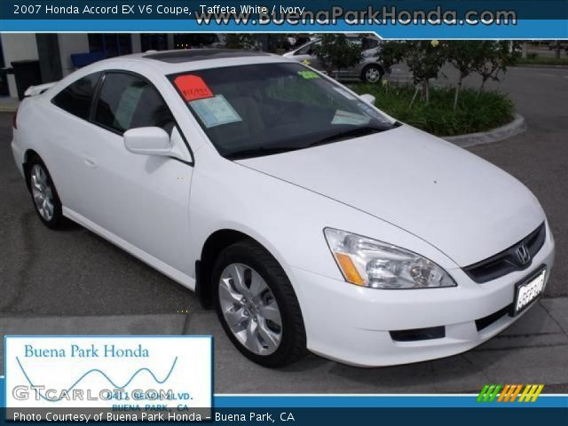 2007 Honda Accord EX V6 Coupe in Taffeta White. Click to see large