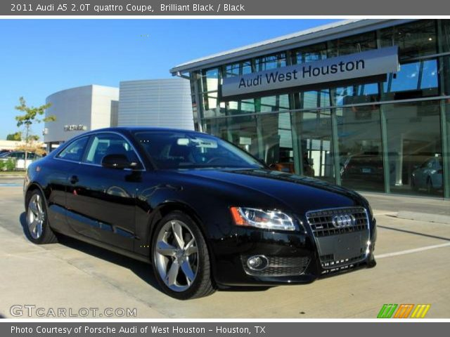 Brilliant Black 2011 Audi A5 2.0T quattro Coupe with Black interior 2011