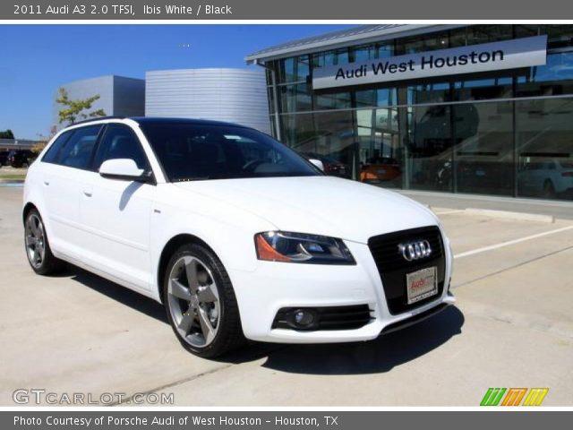 Ibis White 2011 Audi A3 2.0 TFSI with Black interior 2011 Audi A3 2.0 TFSI
