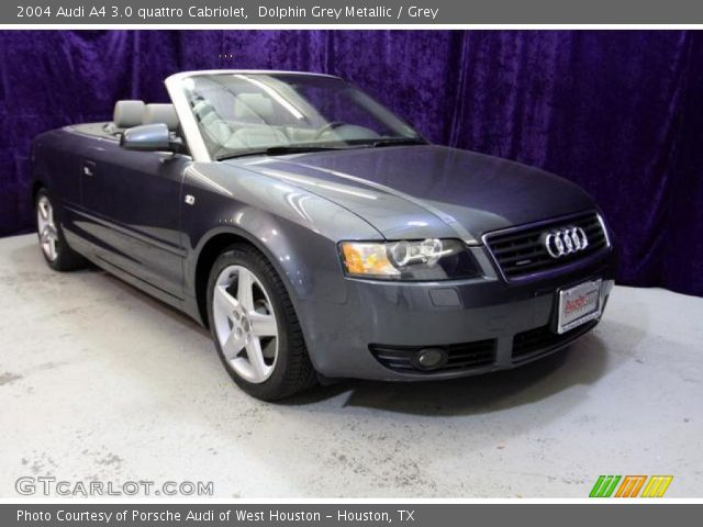 dolphin grey metallic 2004 audi a4 3 0 quattro cabriolet grey interior. Black Bedroom Furniture Sets. Home Design Ideas