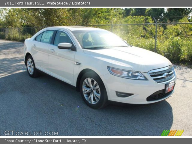white suede 2011 ford taurus sel light stone interior vehicle archive 37423636. Black Bedroom Furniture Sets. Home Design Ideas