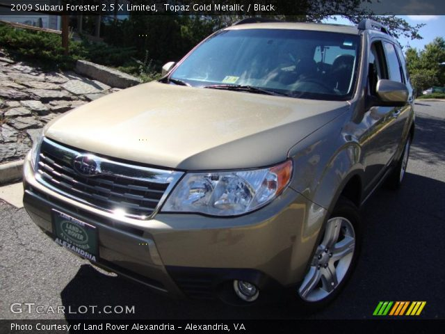 topaz gold metallic 2009 subaru forester 2 5 x limited. Black Bedroom Furniture Sets. Home Design Ideas