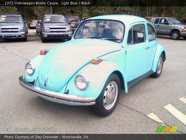 light blue 1972 volkswagen beetle coupe black interior vehicle archive. Black Bedroom Furniture Sets. Home Design Ideas