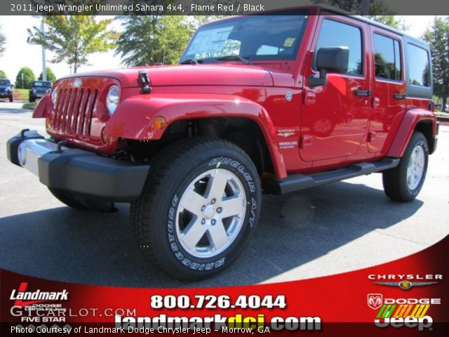 Flame red 2011 jeep wrangler unlimited sahara 4x4 Jeep wrangler unlimited red interior