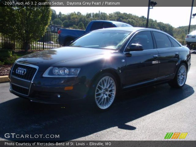 daytona grey pearl 2007 audi a6 3 2 quattro sedan platinum interior vehicle. Black Bedroom Furniture Sets. Home Design Ideas