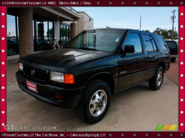 ebony black 1996 honda passport lx 4wd gray interior. Black Bedroom Furniture Sets. Home Design Ideas