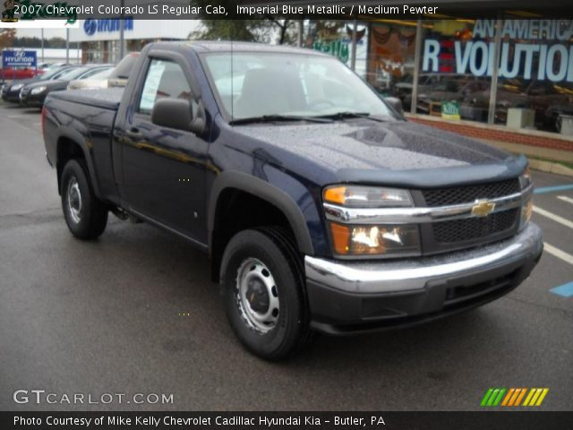 imperial blue metallic 2007 chevrolet colorado ls regular cab medium pewter interior. Black Bedroom Furniture Sets. Home Design Ideas