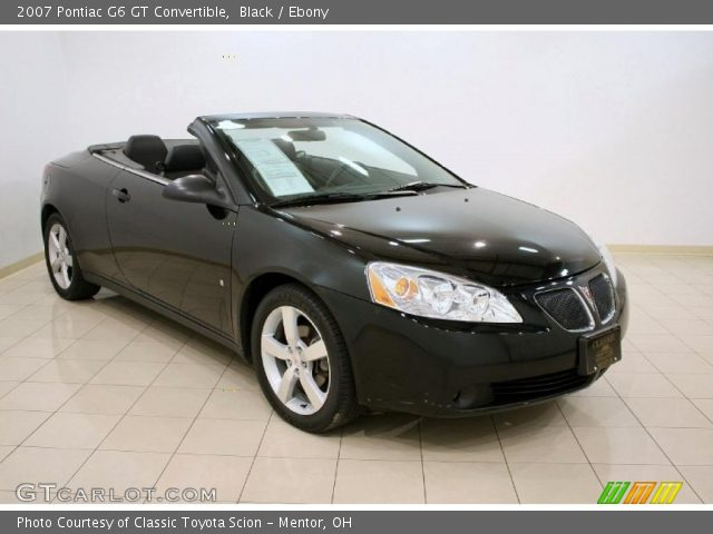 black 2007 pontiac g6 gt convertible ebony interior vehicle archive 37532192. Black Bedroom Furniture Sets. Home Design Ideas