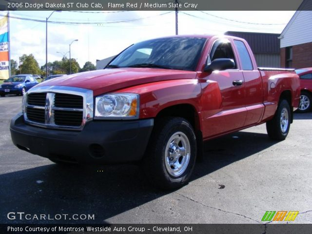 flame red 2006 dodge dakota st club cab medium slate gray interior vehicle. Black Bedroom Furniture Sets. Home Design Ideas