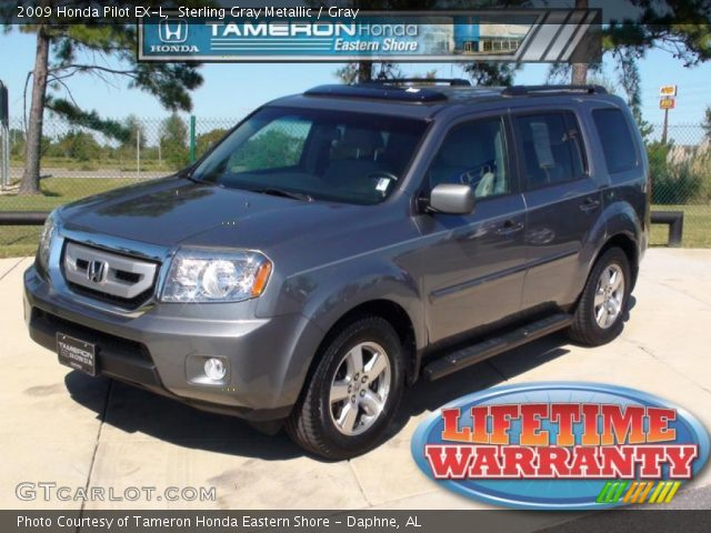 Sterling Gray Metallic 2009 Honda Pilot Ex L Gray Interior Vehicle Archive
