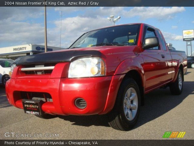 aztec red 2004 nissan frontier xe king cab gray interior vehicle archive. Black Bedroom Furniture Sets. Home Design Ideas