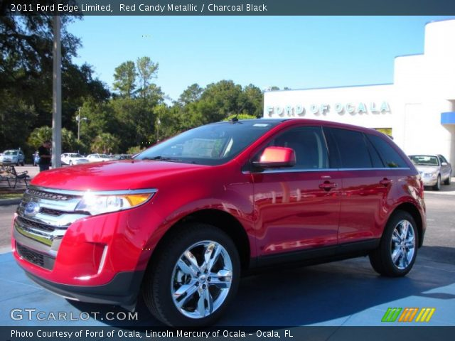 red candy metallic 2011 ford edge limited charcoal black interior vehicle. Black Bedroom Furniture Sets. Home Design Ideas