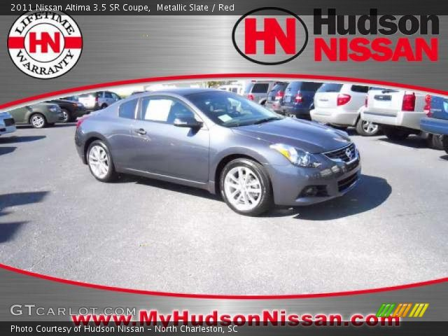 metallic slate 2011 nissan altima 3 5 sr coupe red. Black Bedroom Furniture Sets. Home Design Ideas