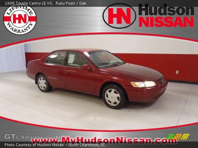 ruby pearl 1998 toyota camry le v6 oak interior vehicle archive 37698915. Black Bedroom Furniture Sets. Home Design Ideas