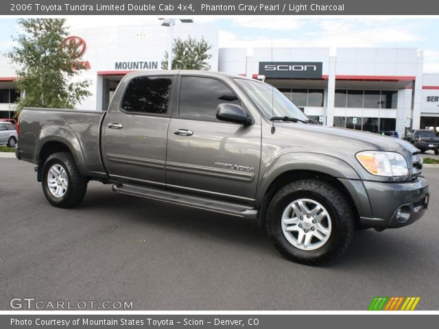 phantom gray pearl 2006 toyota tundra limited double cab 4x4 light charcoal interior. Black Bedroom Furniture Sets. Home Design Ideas