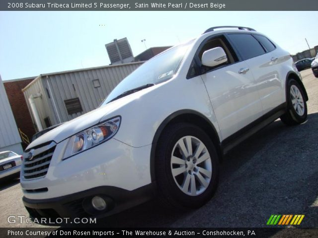 2008 Subaru Tribeca Limited 5 Passenger in Satin White Pearl