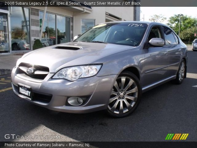 quartz silver metallic 2008 subaru legacy 2 5 gt spec b. Black Bedroom Furniture Sets. Home Design Ideas