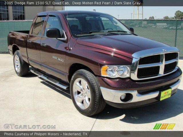2012 Dodge Ram 1500 For Sale >> Deep Molten Red Pearl - 2005 Dodge Ram 1500 SLT Quad Cab - Dark Slate Gray Interior | GTCarLot ...