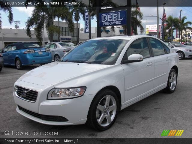 ice white 2008 volvo s40 off black interior vehicle archive 375471. Black Bedroom Furniture Sets. Home Design Ideas