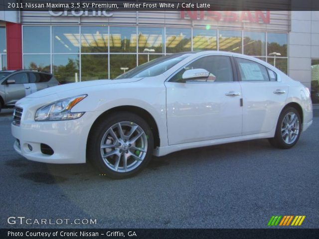 Winter Frost White 2011 Nissan Maxima 35 Sv Premium Cafe Latte
