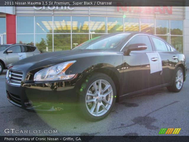 super black 2011 nissan maxima 3 5 sv premium charcoal interior vehicle. Black Bedroom Furniture Sets. Home Design Ideas