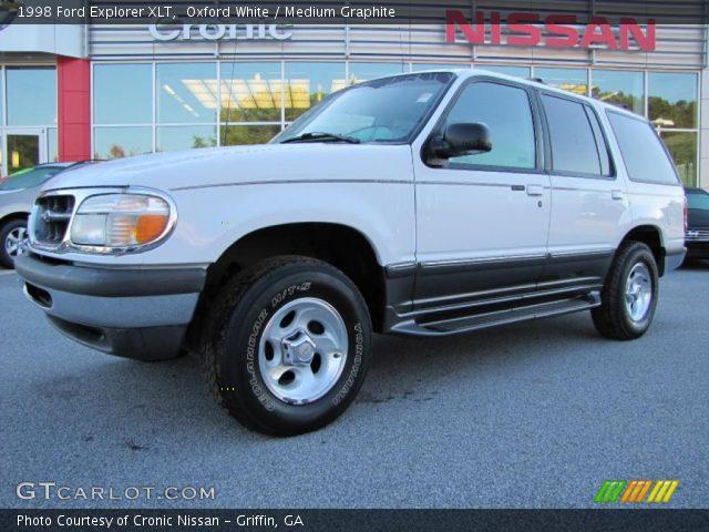 oxford white 1998 ford explorer xlt medium graphite interior vehicle. Black Bedroom Furniture Sets. Home Design Ideas