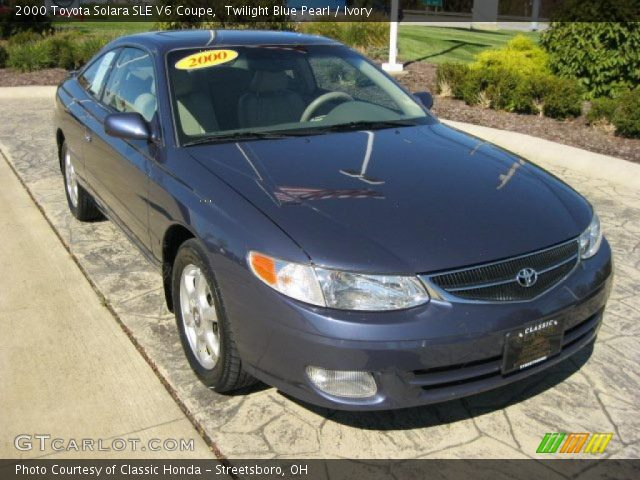 twilight blue pearl 2000 toyota solara sle v6 coupe. Black Bedroom Furniture Sets. Home Design Ideas