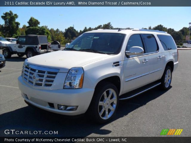 2011 Cadillac Escalade Esv Interior. White Diamond Tricoat 2011 Cadillac Escalade ESV Luxury AWD with Cashmere/Cocoa interior 2011 Cadillac Escalade ESV Luxury AWD in White Diamond Tricoat