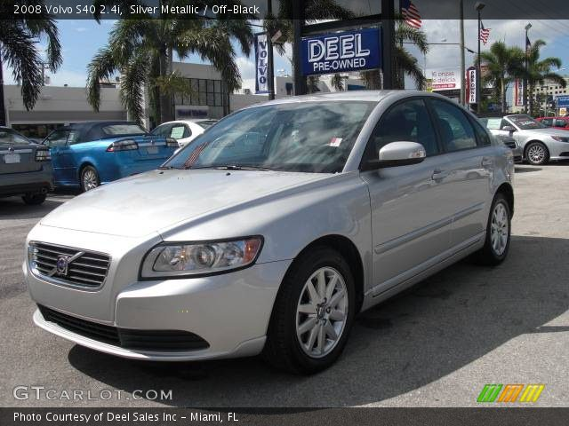 silver metallic 2008 volvo s40 off black interior vehicle archive 375467. Black Bedroom Furniture Sets. Home Design Ideas