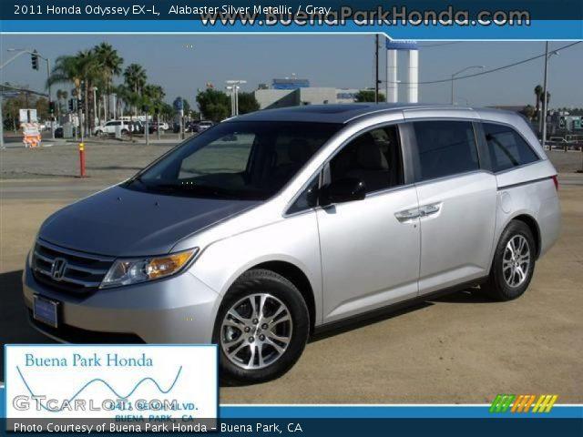 Alabaster Silver Metallic 2011 Honda Odyssey Ex L Gray