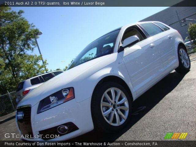 2011 Audi A3 2.0 TFSI quattro in Ibis White. Click to see large photo.