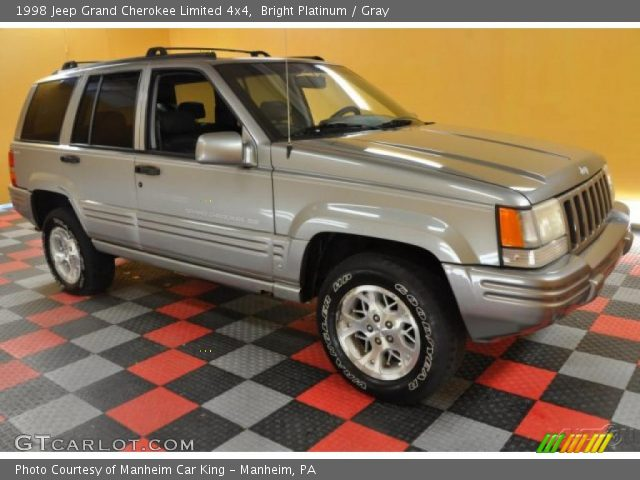 Bright platinum 1998 jeep grand cherokee limited 4x4 gray interior vehicle for 1998 jeep grand cherokee interior