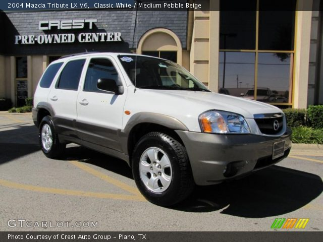 classic white 2004 mazda tribute lx v6 medium pebble. Black Bedroom Furniture Sets. Home Design Ideas
