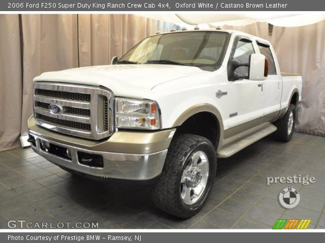 oxford white 2006 ford f250 super duty king ranch crew cab 4x4 castano brown leather. Black Bedroom Furniture Sets. Home Design Ideas
