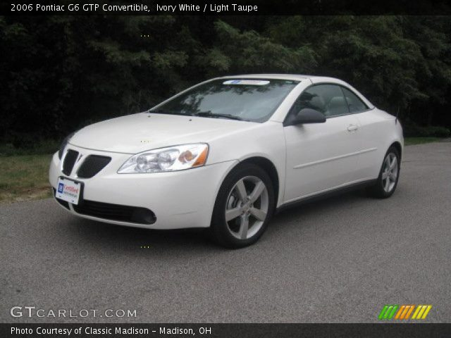 ivory white 2006 pontiac g6 gtp convertible light taupe interior vehicle. Black Bedroom Furniture Sets. Home Design Ideas
