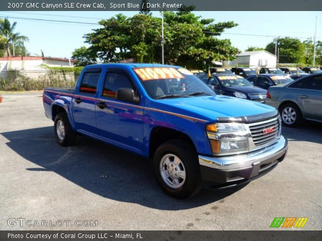 sport blue 2007 gmc canyon sle crew cab dark pewter. Black Bedroom Furniture Sets. Home Design Ideas