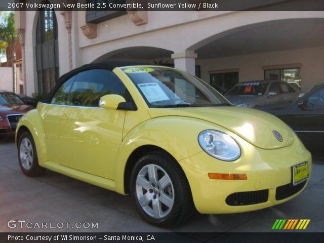 sunflower yellow  volkswagen  beetle  convertible black interior gtcarlotcom