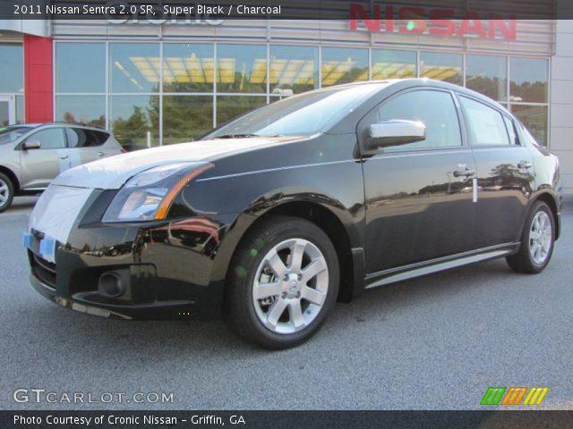 Super Black - 2011 Nissan Sentra 2.0 SR - Charcoal Interior   GTCarLot ...