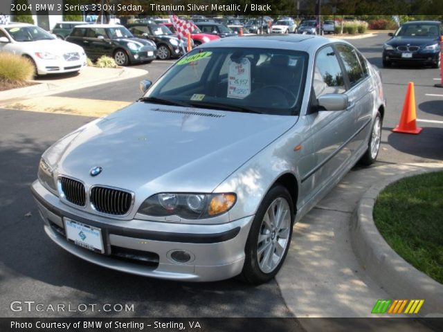 titanium silver metallic 2004 bmw 3 series 330xi sedan. Black Bedroom Furniture Sets. Home Design Ideas