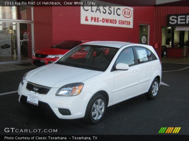 clear white 2011 kia rio rio5 lx hatchback gray. Black Bedroom Furniture Sets. Home Design Ideas