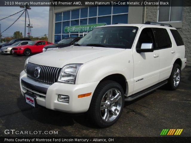 2010 Mercury Mountaineer V8 Premier AWD in White Platinum Tri-Coat Metallic