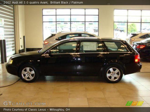 brilliant black 2002 audi a6 3 0 quattro avant platinum interior vehicle. Black Bedroom Furniture Sets. Home Design Ideas