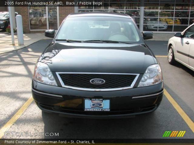 black 2005 ford five hundred se awd pebble beige interior vehicle archive. Black Bedroom Furniture Sets. Home Design Ideas
