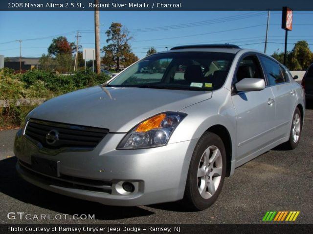 radiant silver metallic 2008 nissan altima 2 5 sl. Black Bedroom Furniture Sets. Home Design Ideas